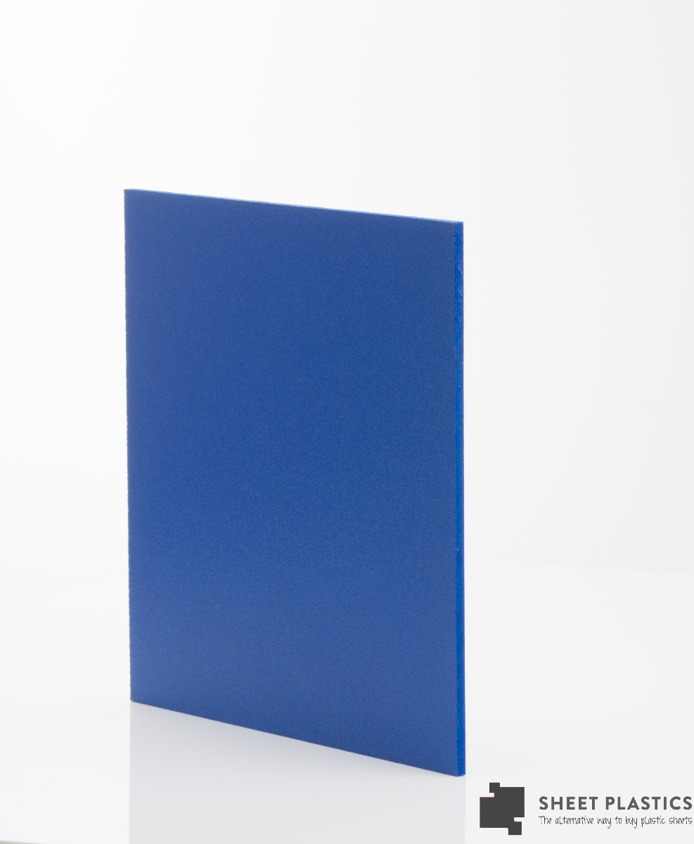 3mm Matt Blue Foam Pvc Sample 150 X 150mm