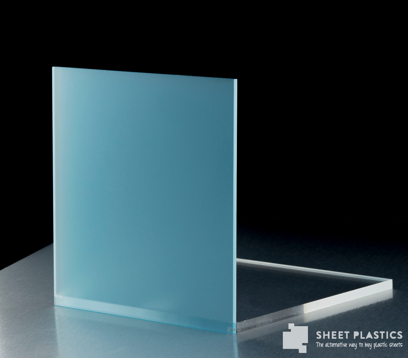 Blue Frosted Acrylic Sheet