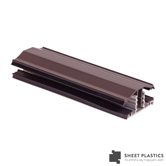 Snapdown Glazing Bar 4m Brown 25mm-35mm