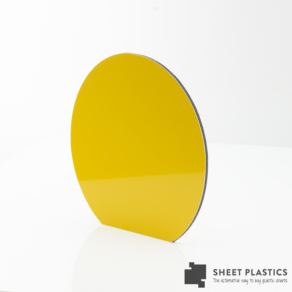 3mm Yellow Aluminium Composite Disc Bespoke Size