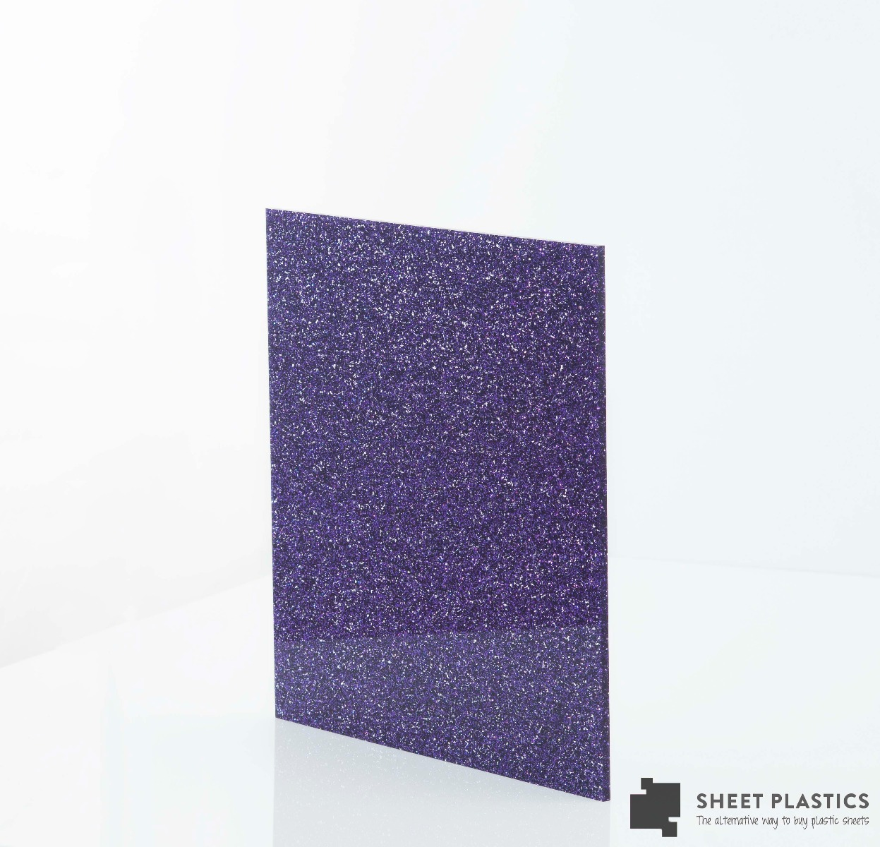 3mm purple glitter