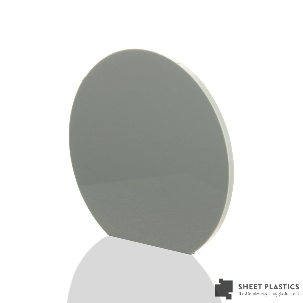 5mm Grey Acrylic Disc Bespoke Size -