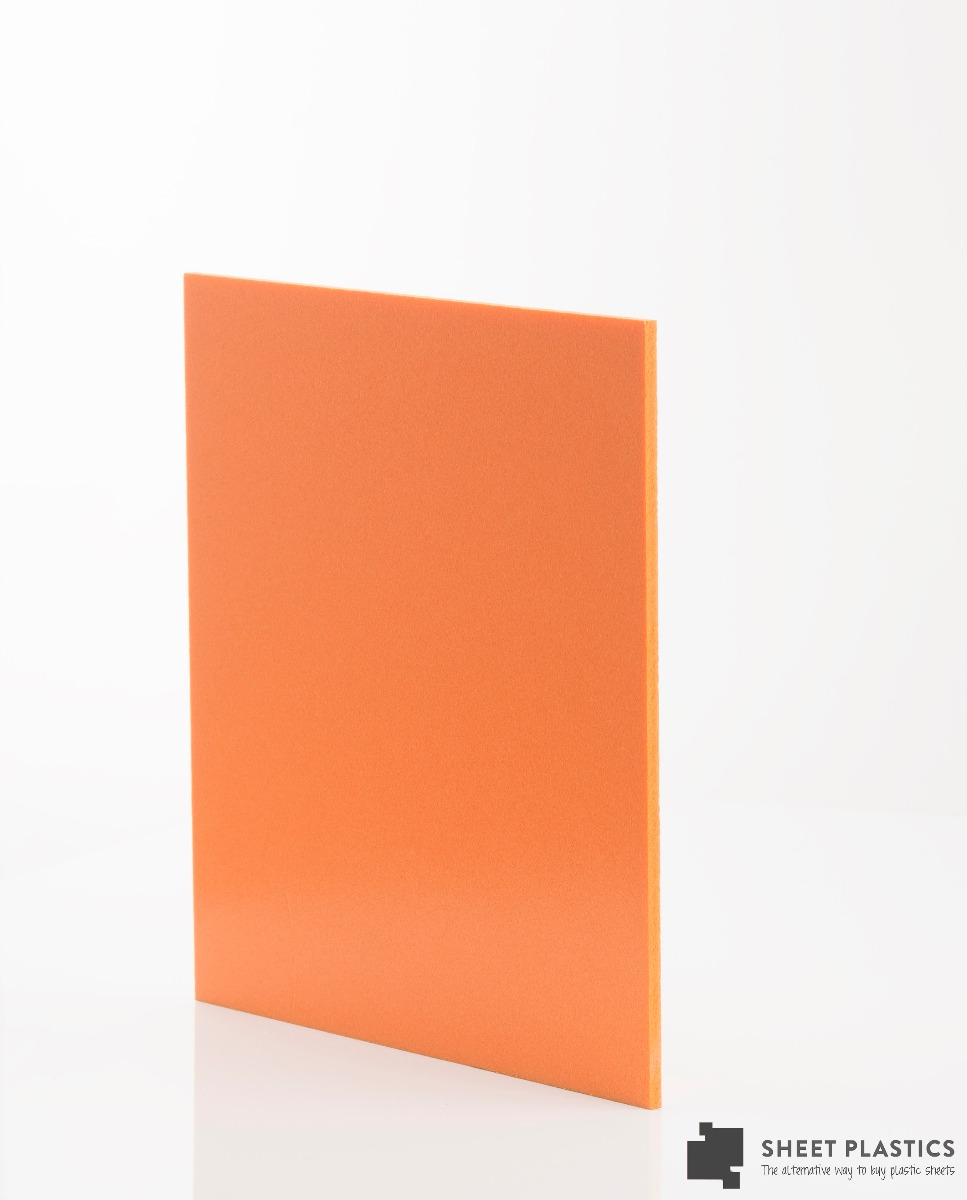 5mm Matt Orange Foam Pvc Sample