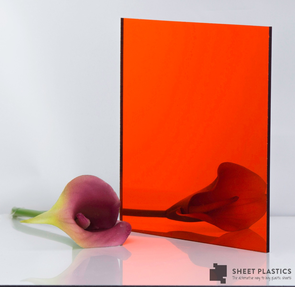 3mm Orange Acrylic Mirror