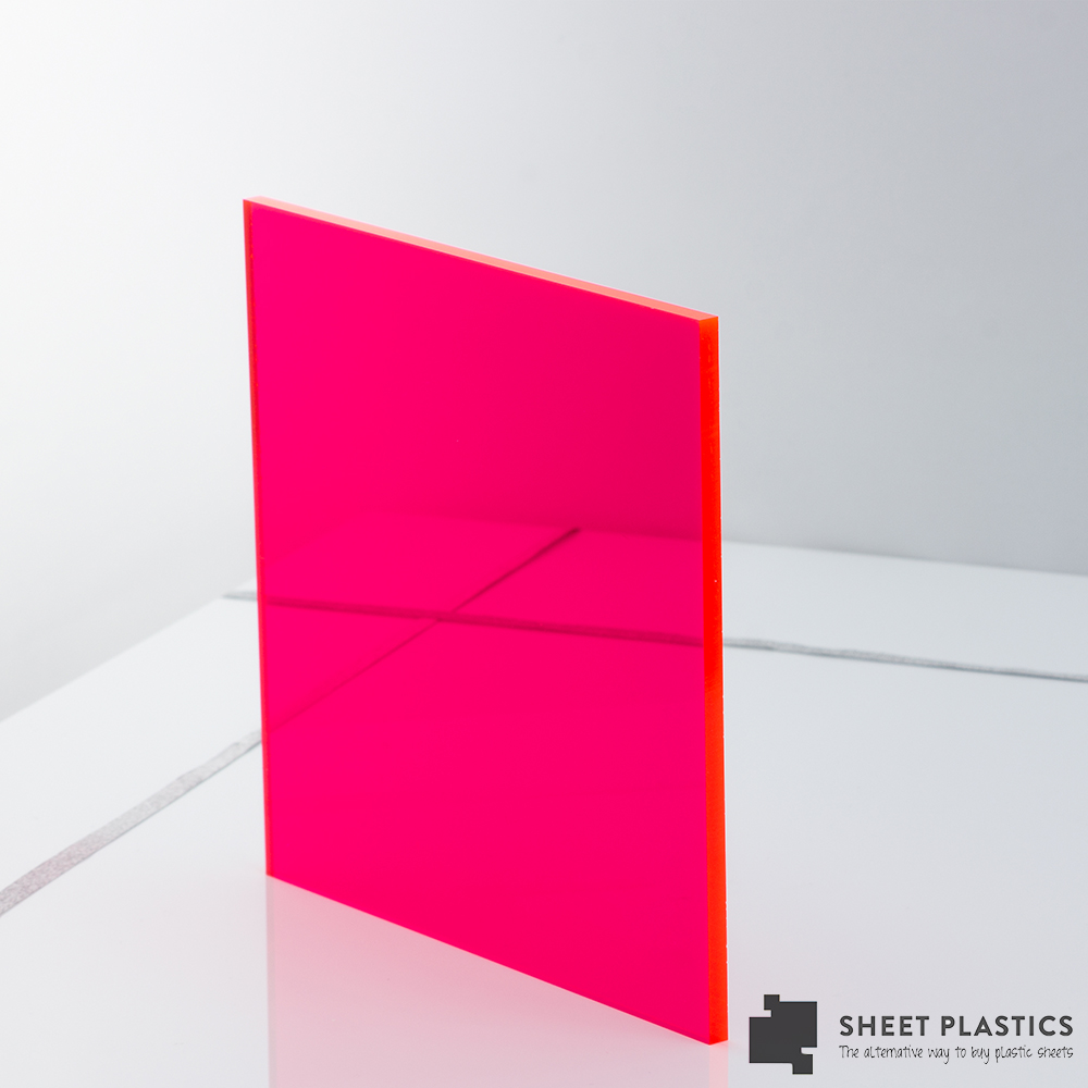5mm Pink Fluorescent Acrylic Sheet Cut To Size