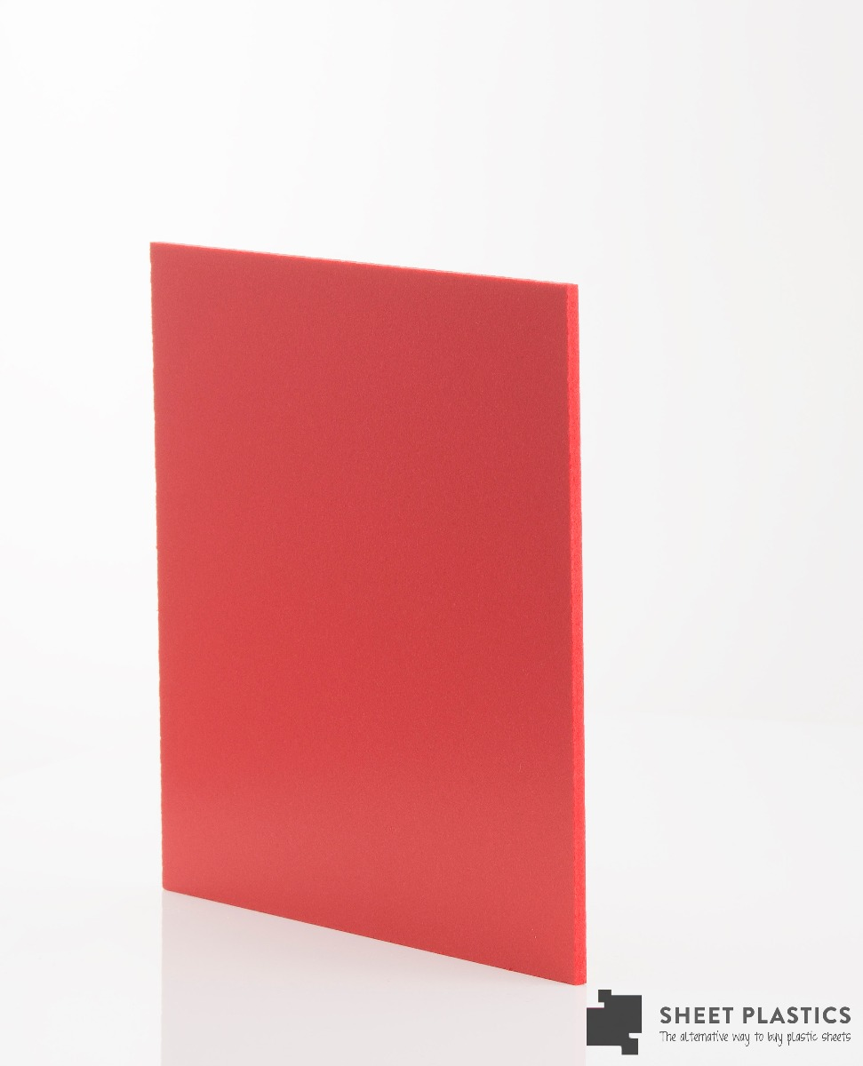 3mm Matt Red Foam Pvc Sheet