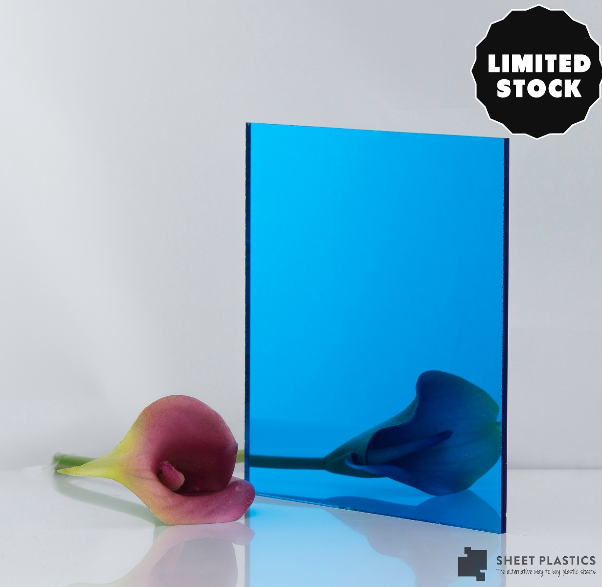 3mm Sky Blue Mirror Acrylic 500mm x 500mm