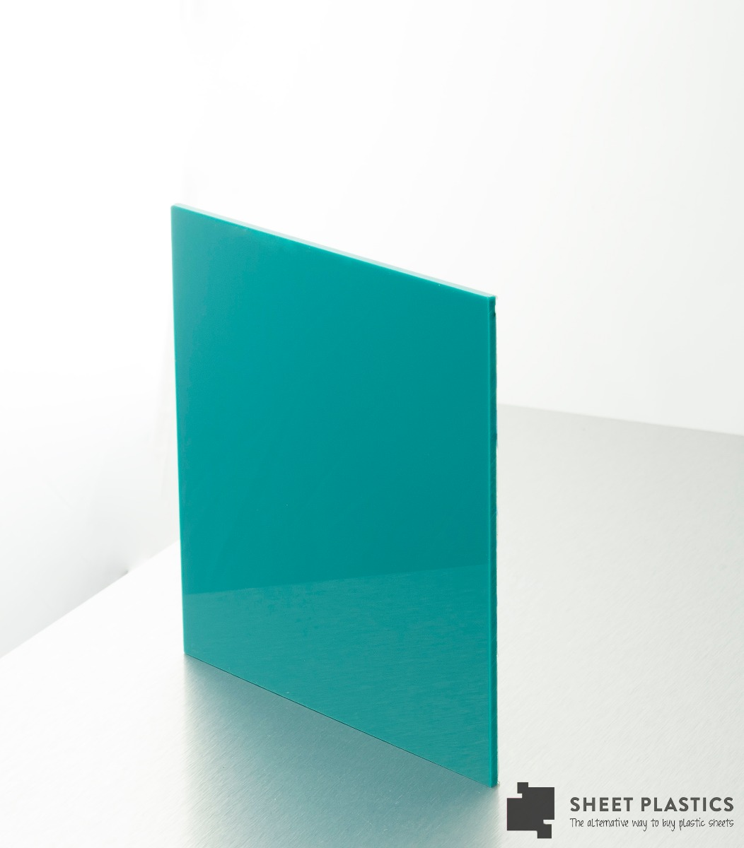 5mm Turquoise Acrylic Sample 150 X 150mm