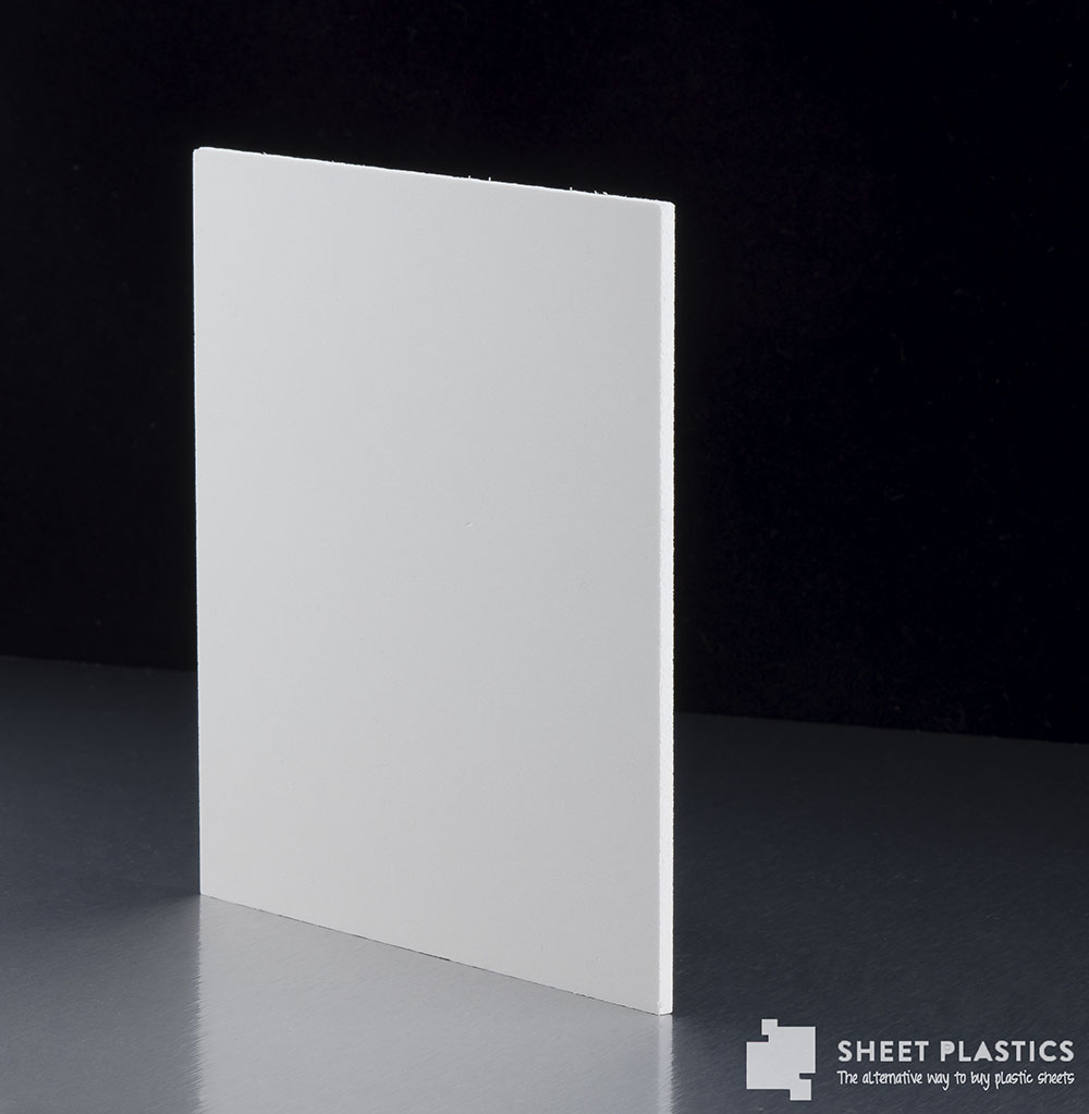 10mm Matt White Foam Pvc Sample 150 X 150mm